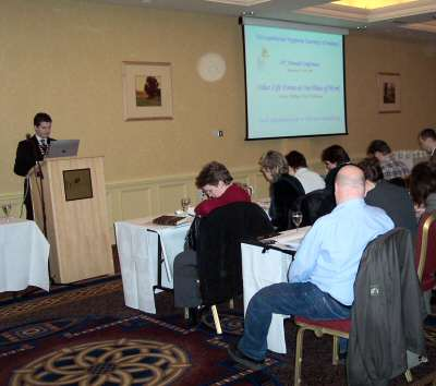 Hon President Con Furey opening the 14th Annual Conference at the Heritage Hotel, 16th February, 2005
